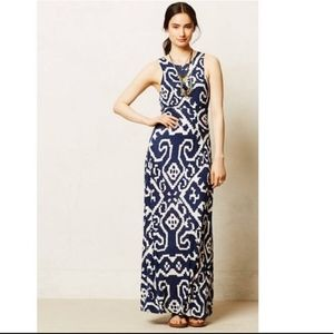 Anthropologie Maeve Scrollwork Maxi Dress size L